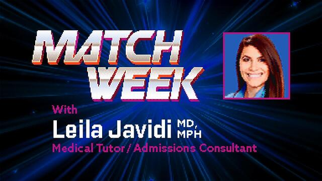 Match Week With Leila Javidi Banner