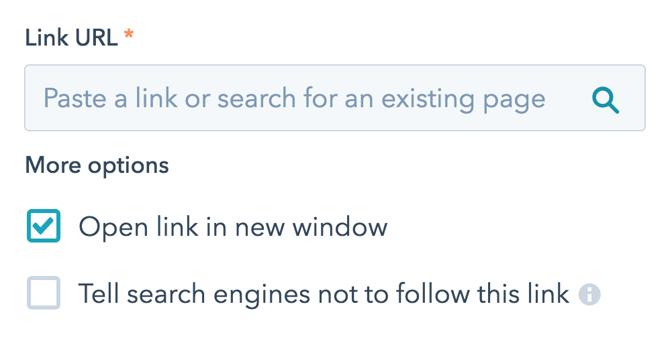 Link URL example