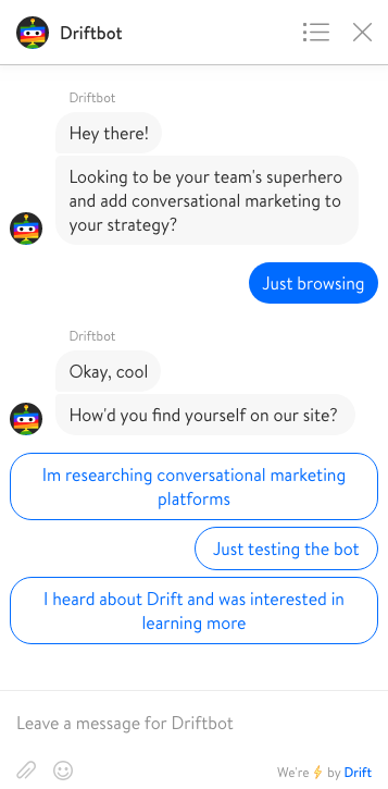 DriftBot Chat