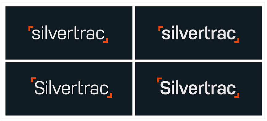 Silvertrac logo variations