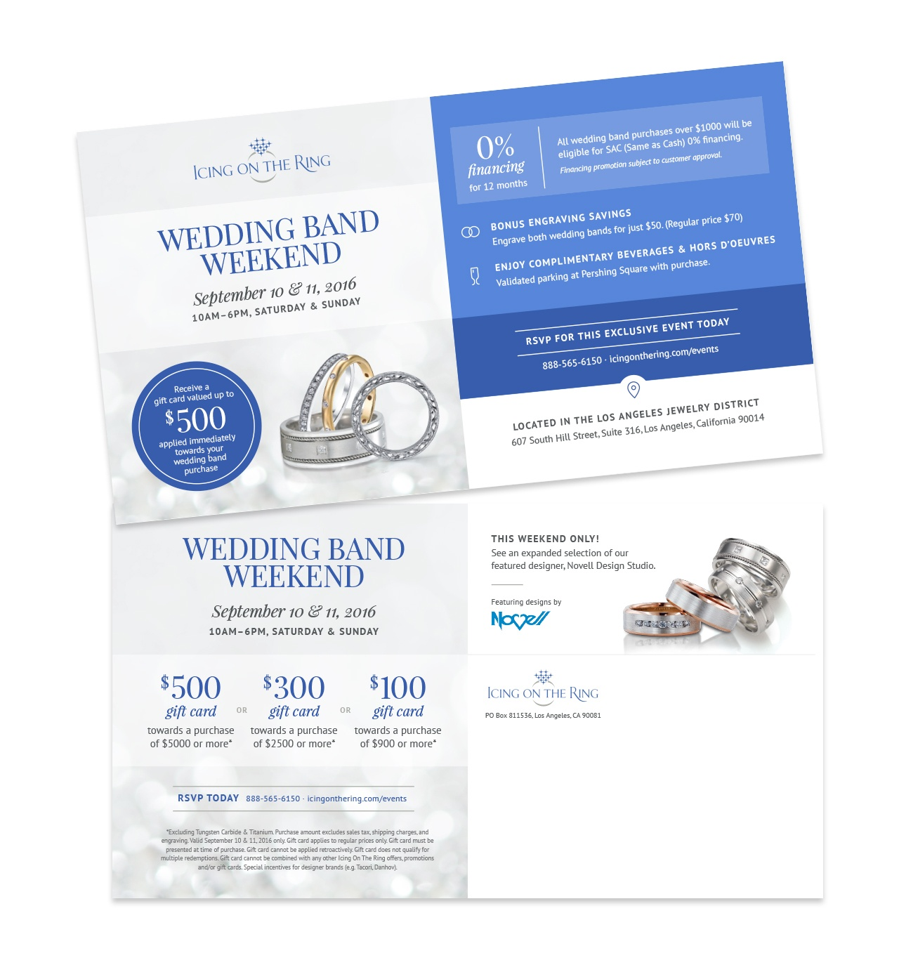 Icing On The Ring Direct Mail Marketing Design #2 by Salted Stone