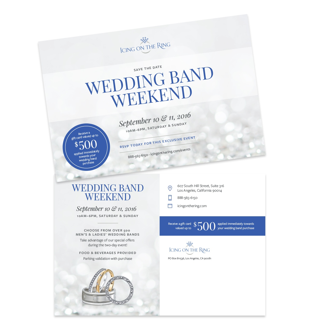 Icing On The Ring Direct Mail Marketing Design by Salted Stone