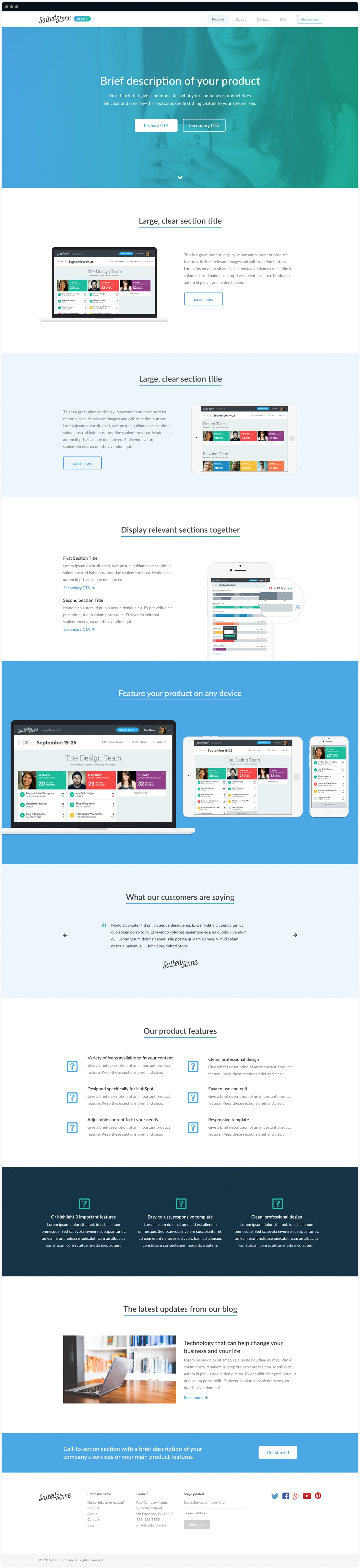 Aplite HubSpot Custom Template Designed and Developed by Salted Stone