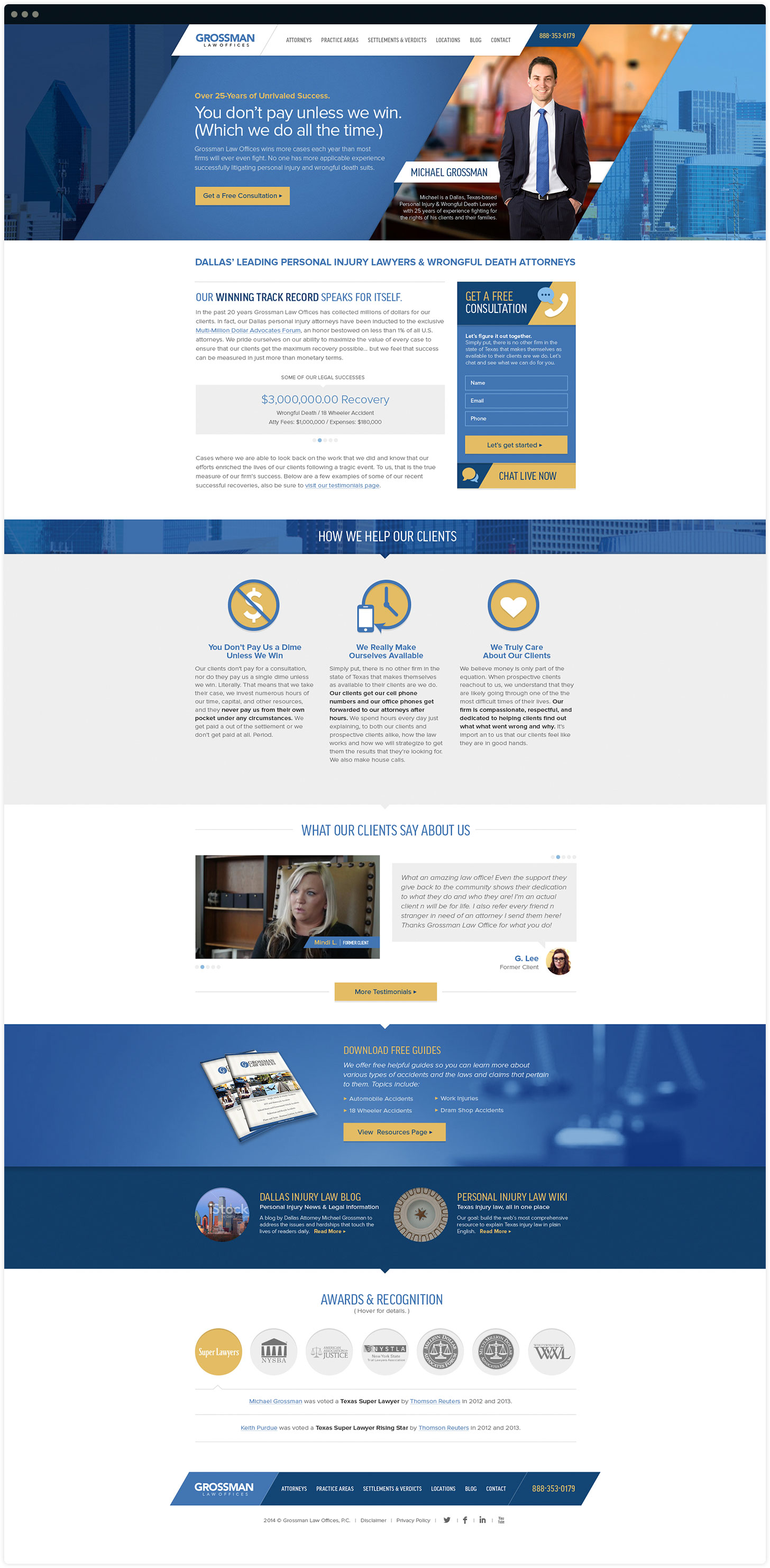 Grossman Law Offices Website Design by Salted Stone