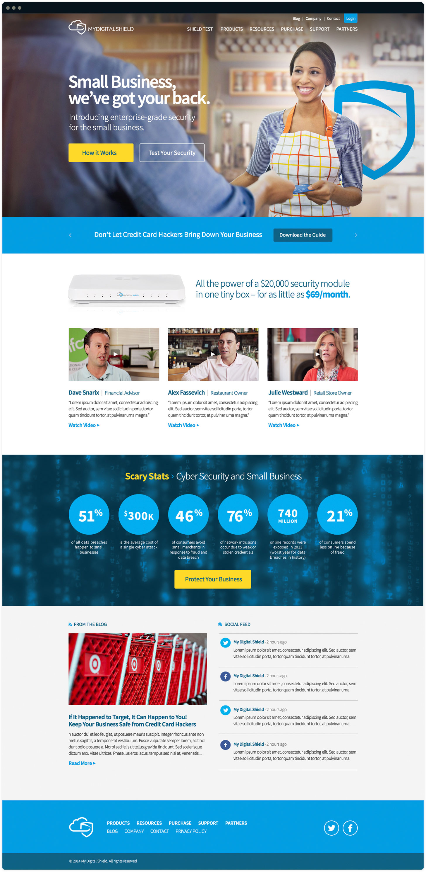 MyDigitalShield Website Design by Salted Stone