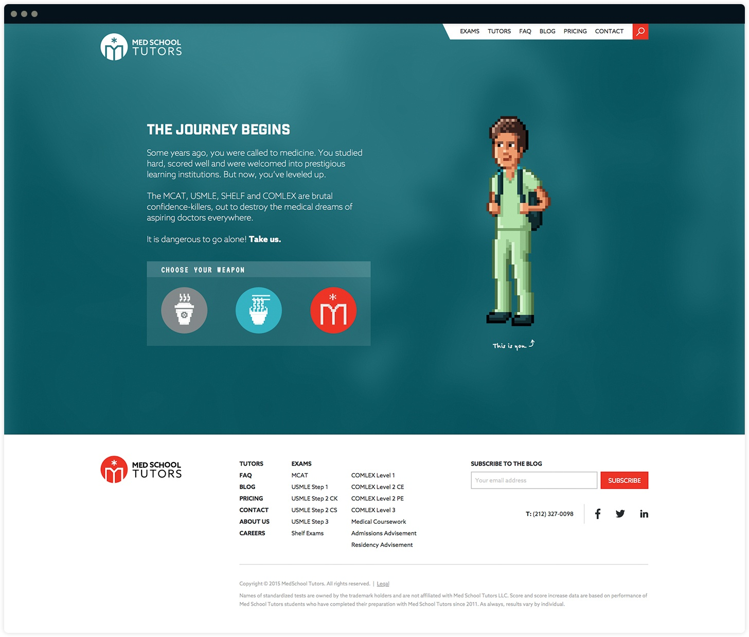 Med School Tutors Homepage Interactive Journey Design by Salted Stone