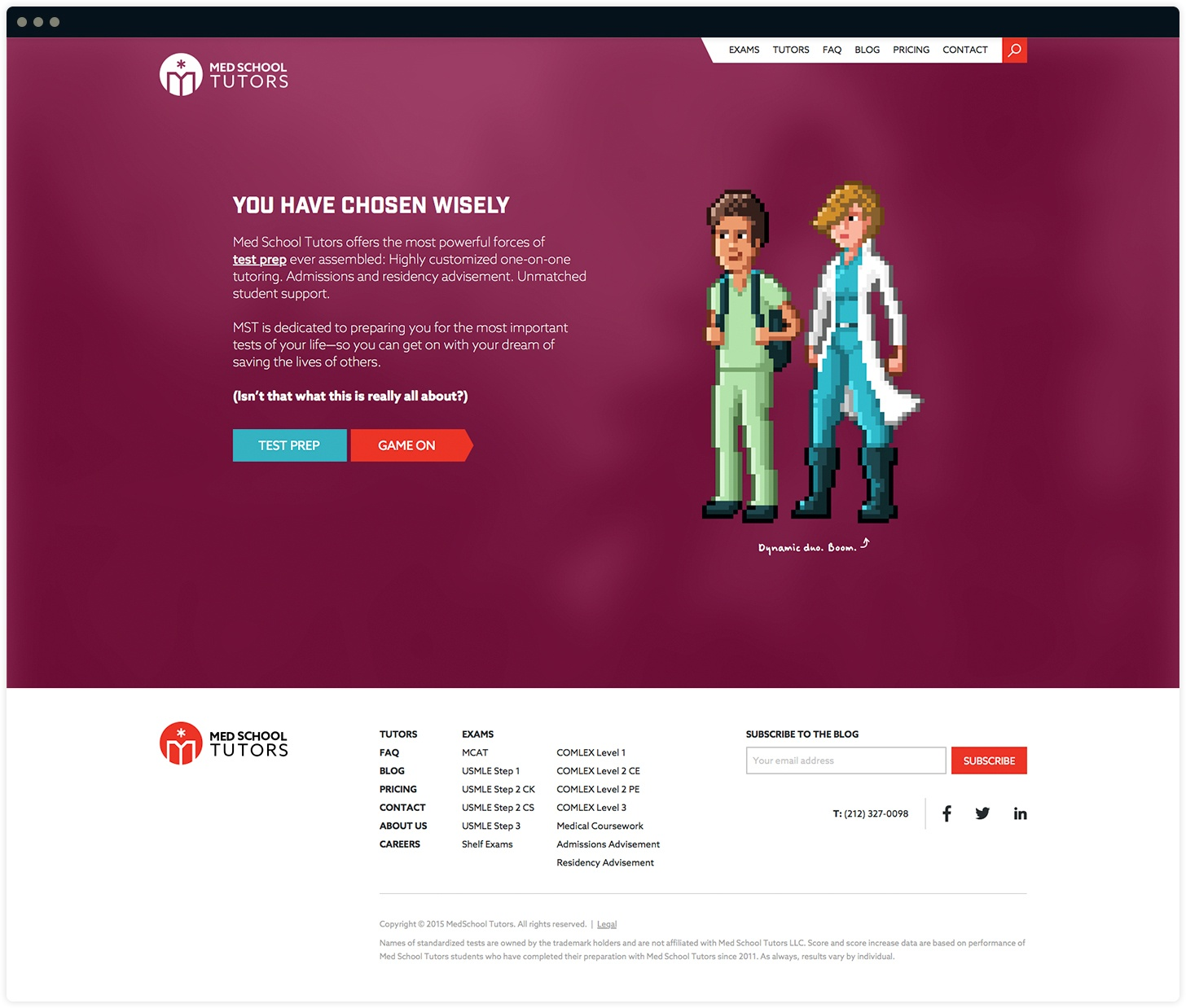 Med School Tutors Homepage Interactive Journey Design #2 by Salted Stone