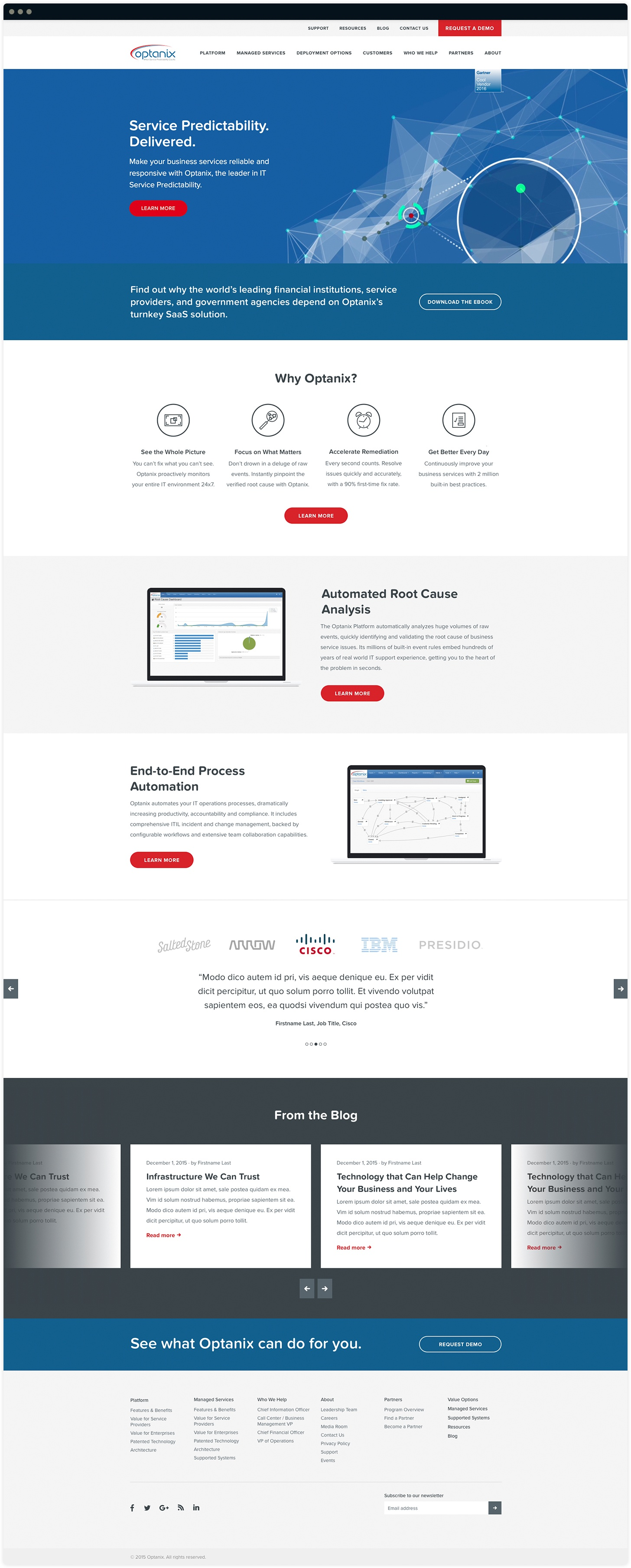 Optanix Homepage Design by Salted Stone