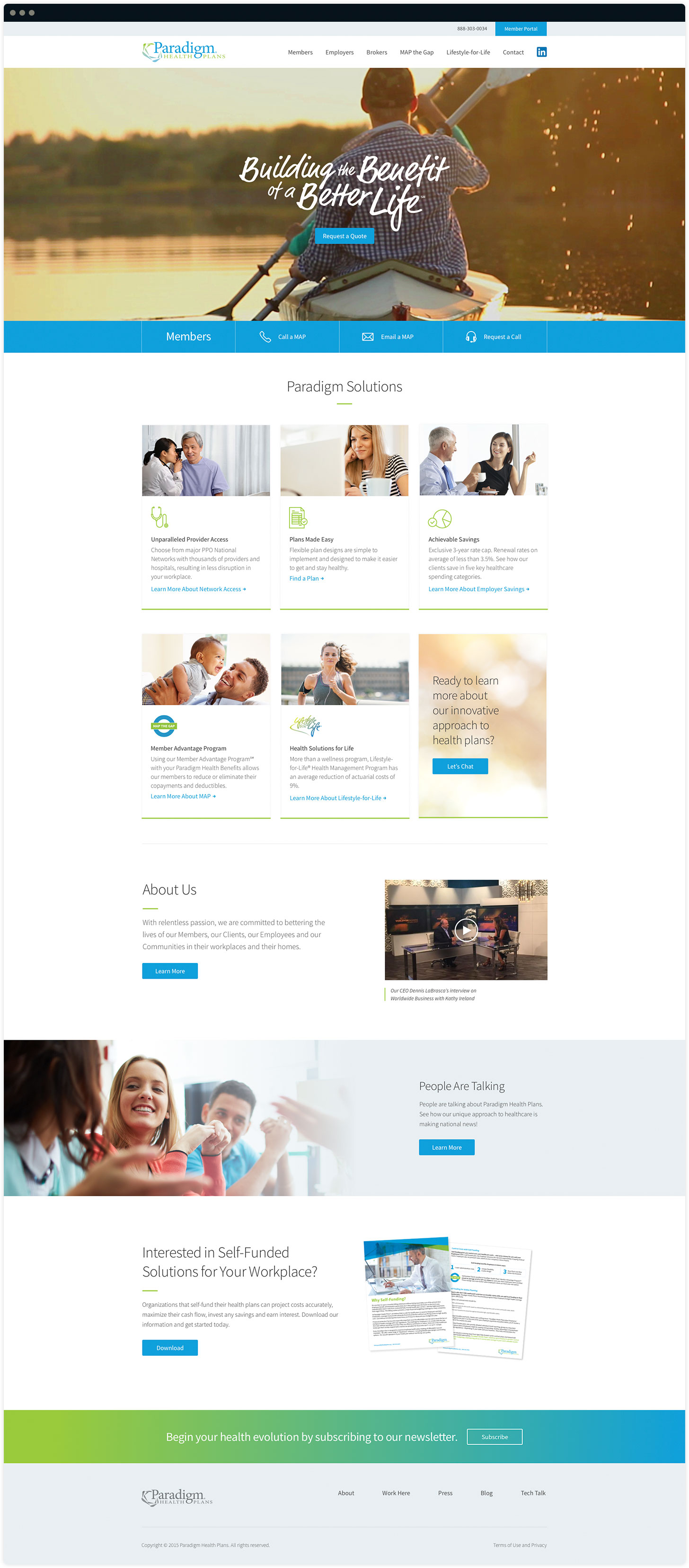 Paradigm Homepage Design by Salted Stone