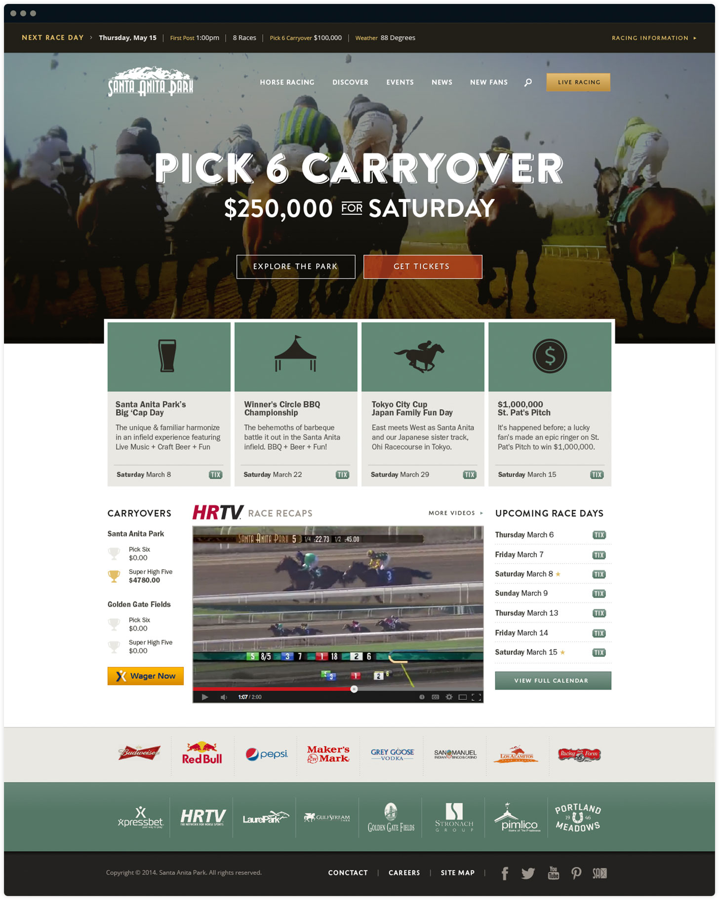 Santa Anita Park Website Design by Salted Stone