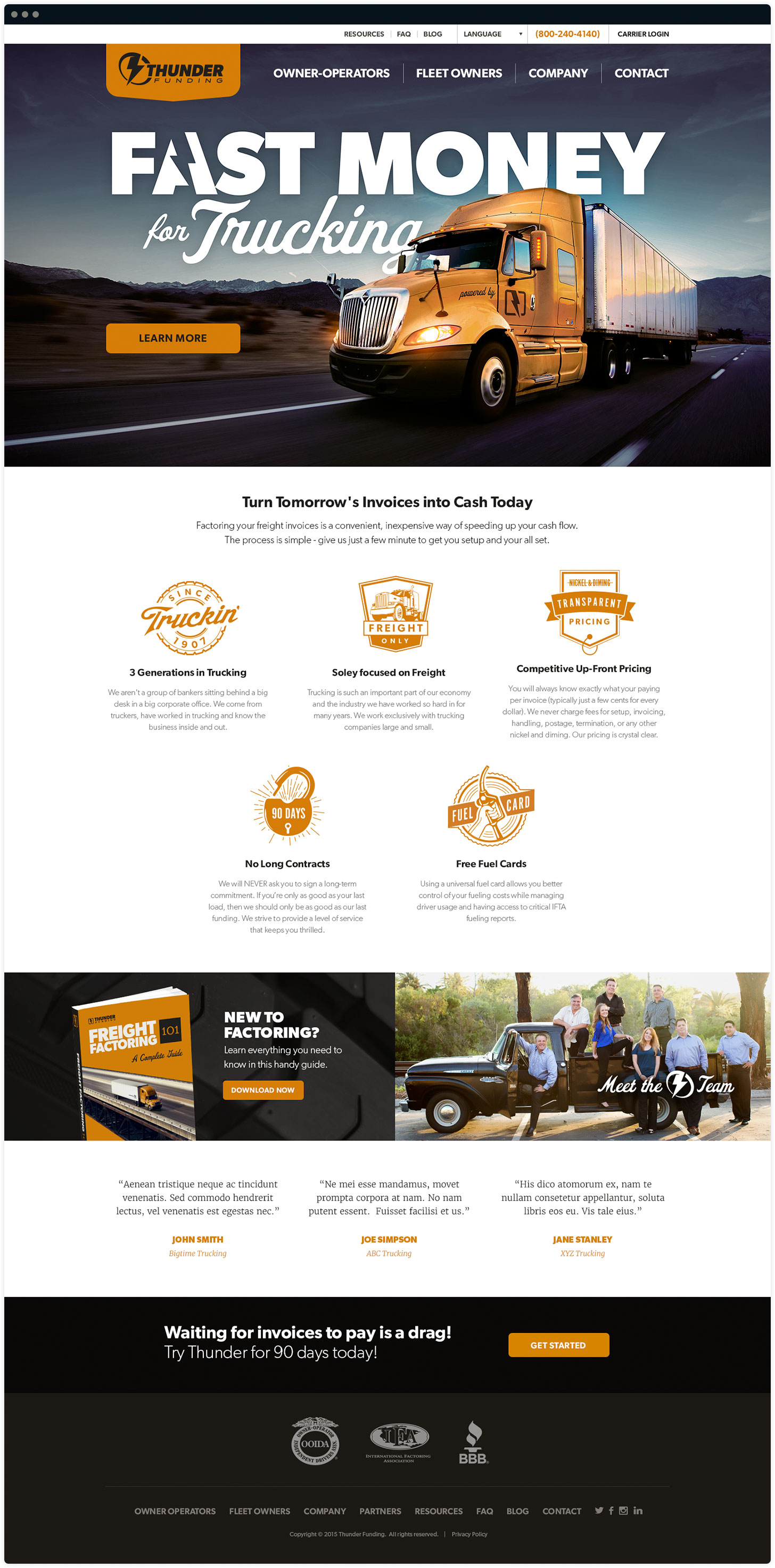 Thunder Funding Website Design by Salted Stone