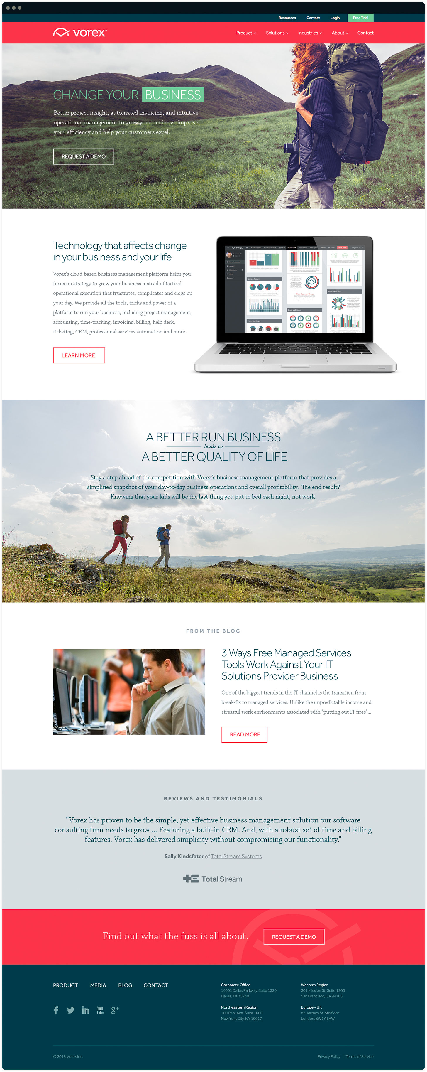 Vorex Website Design by Salted Stone
