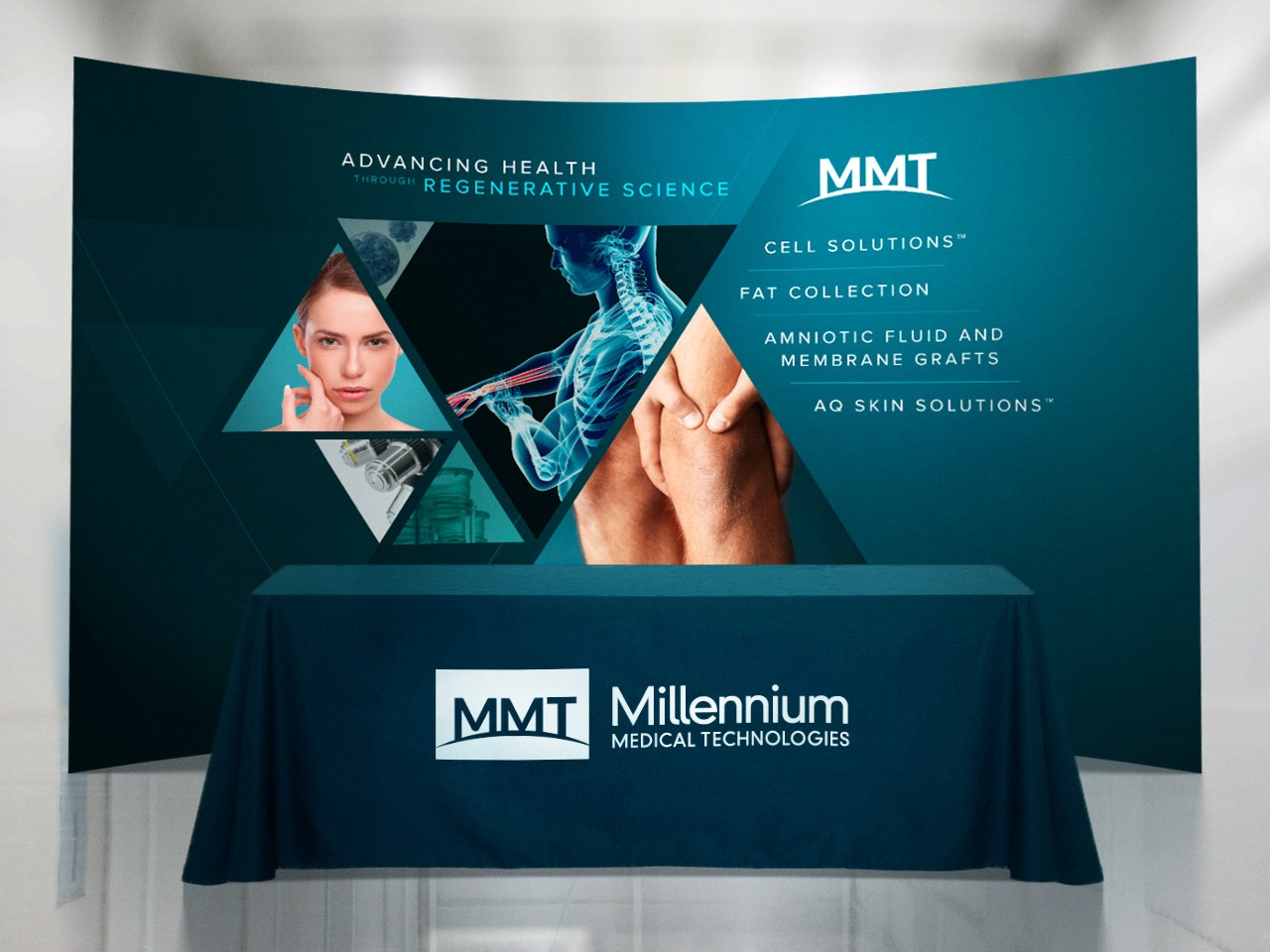 Millennium Medical Technologies (MMT) Tradeshow Print Banner Design by Salted Stone