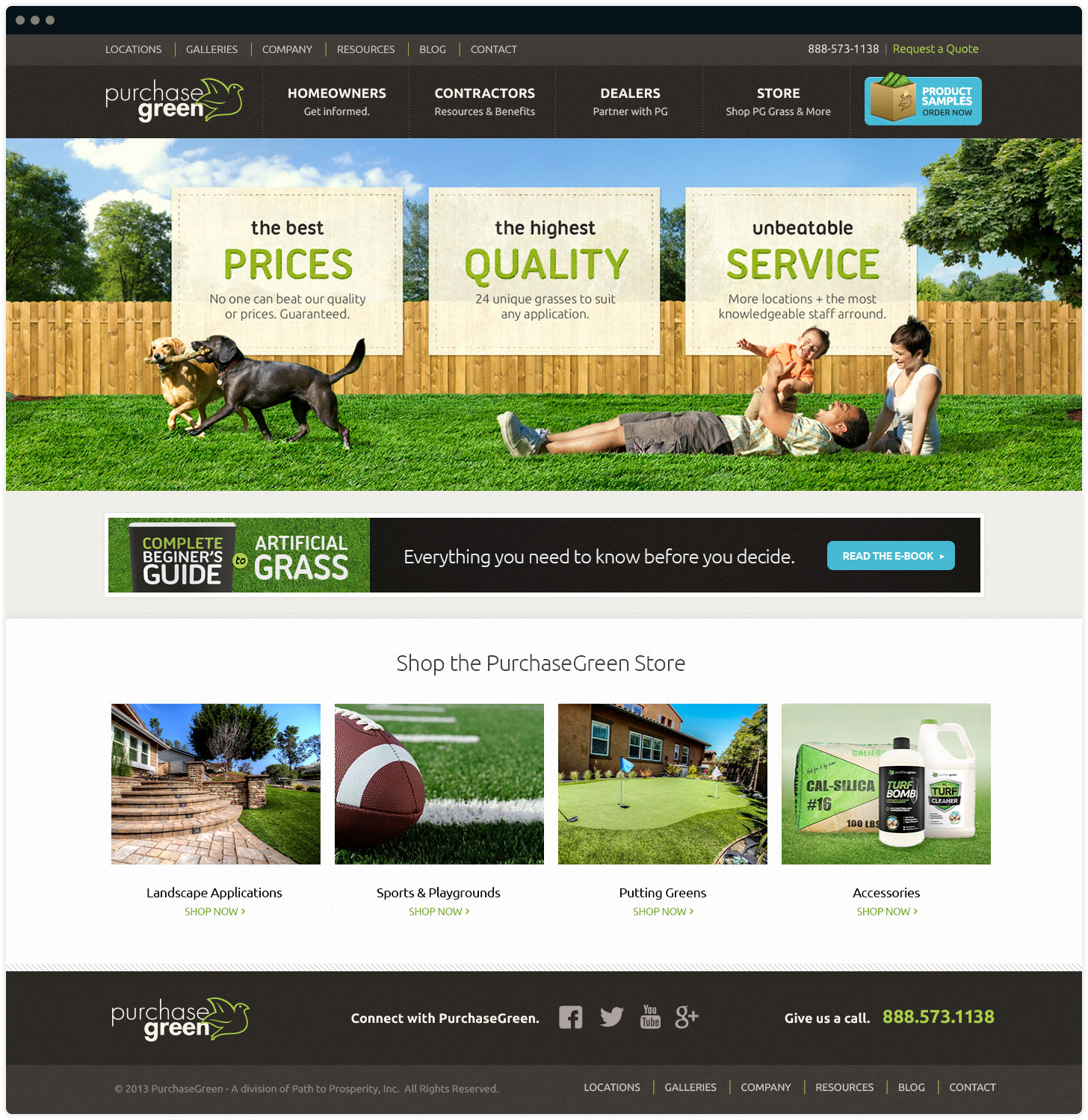 Purchase Green Homepage Design by Salted Stone