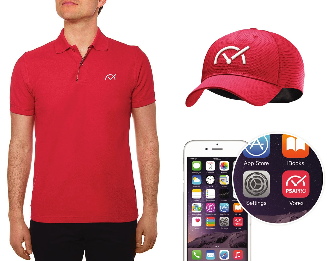Vorex Branded Polo and Hat Design by Salted Stone